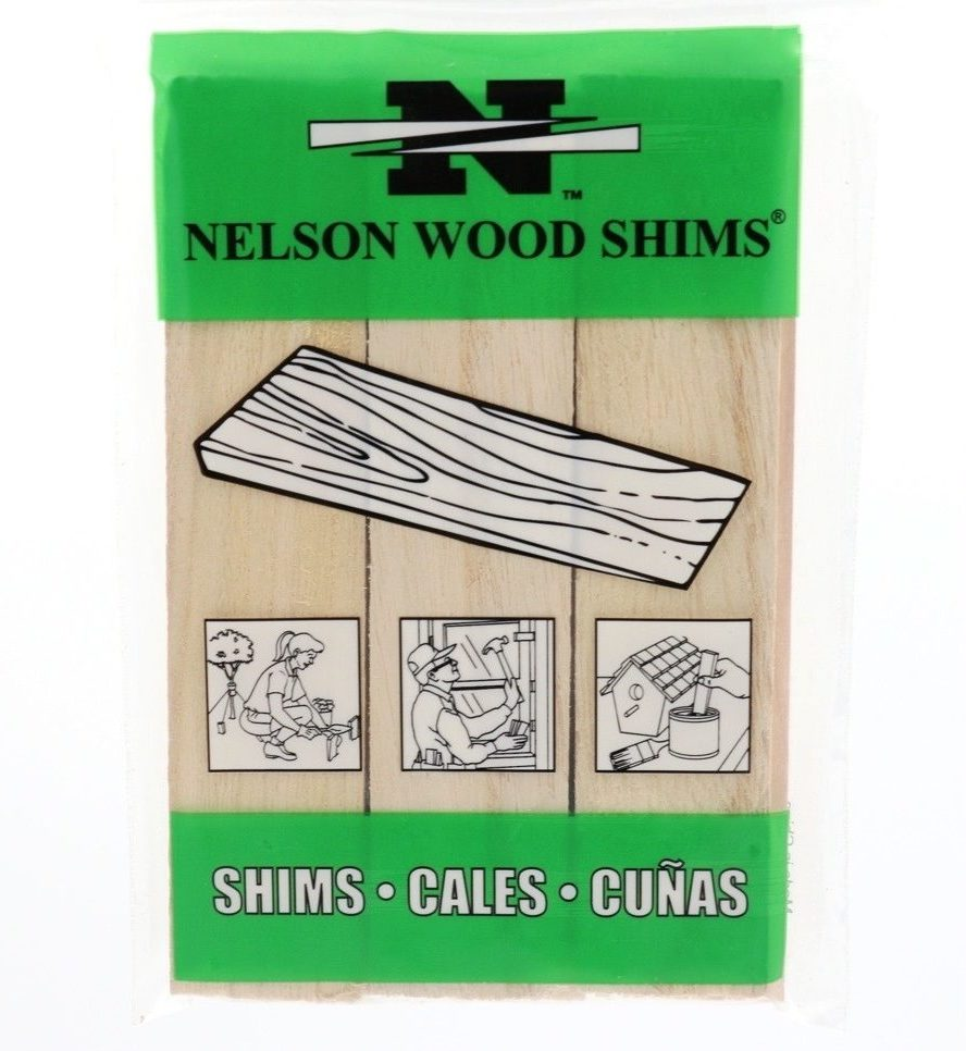 The Nelson Wood Shims Poly-bag package - front view