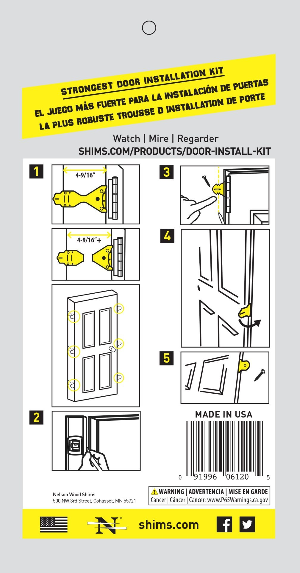 Door Install Kit Packaging Image (back)